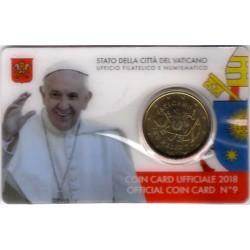 Ciudad del Vaticano. 2018. Coincard 50 Céntimos (SC) Nº 9