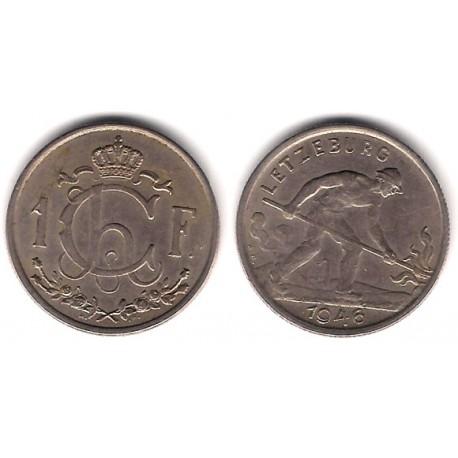 (46.1) Luxemburgo. 1946. 1 Franc (MBC)