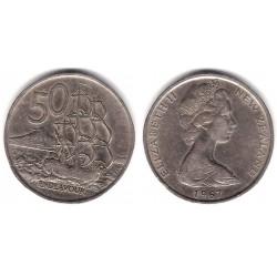 (37.1) Nueva Zelanda. 1967. 50 Cents (MBC)