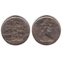 (37.1) Nueva Zelanda. 1975. 50 Cents (MBC)