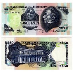 (61A) Uruguay. 1988-89. 50 Pesos (SC)