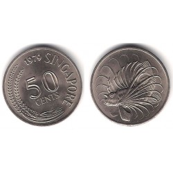 (5) Singapur. 1979. 50 Cents (EBC+)