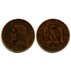 Francia. 1856(MA). 10 Centimes (MBC+)