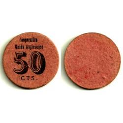 Cooperativa Unión Anglesense. 50 Céntimos (MBC)