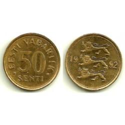 (24) Estonia. 1992. 50 Senti (MBC)