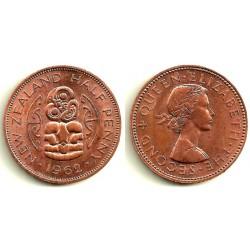 (23.2) Nueva Zelanda. 1962. ½ Penny (MBC+)