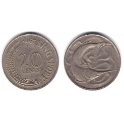(4) Singapur. 1967. 20 Cents (MBC)