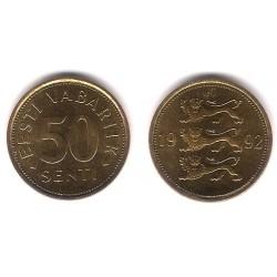 (24) Estonia. 1992. 50 Senti (SC)