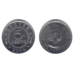 (34a) Belice. 2006. 5 Cents (SC)