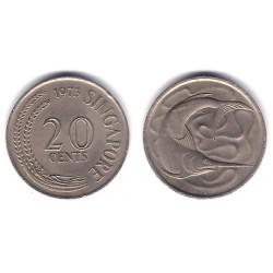 (4) Singapur. 1973. 20 Cents (MBC+)