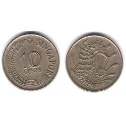 (3) Singapur. 1971. 10 Cents (MBC)