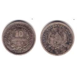 (14) Uruguay. 1877. 10 Centesimos (BC+)