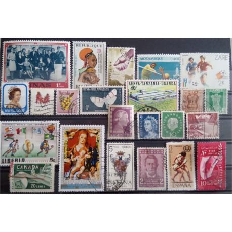 Lote de sellos de varios paises (23 uds)