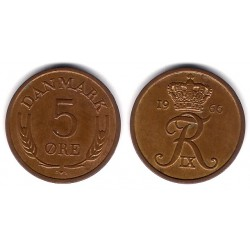 (848.1) Dinamarca. 1966. 5 Ore (SC)