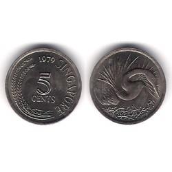 (2) Singapur. 1979. 5 Cents (SC)