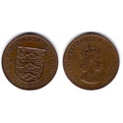 (21) Jersey. 1957. 1/12 Shilling (MBC)