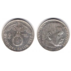 (93) Alemania (III Reich). 1937(A). 2 Mark (EBC) (Plata)