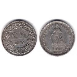 (21) Suiza. 1910. 2 Francs (MBC+) (Plata)