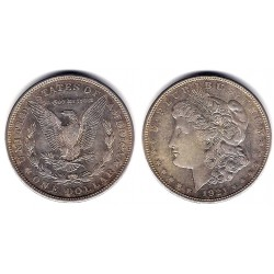 (110) Estados Unidos de América. 1921(D). 1 Dollar (MBC) (Plata)