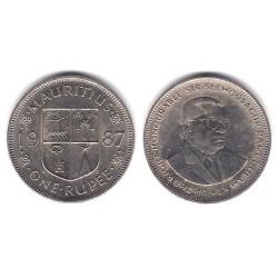 (55) Mauricio. 1987. 1 Rupee (SC)