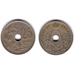 (68.1) Bélgica. 1922. 25 Centimes (BC+)