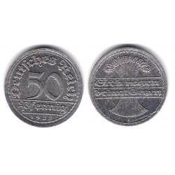 (27) Imperio Alemán (Weimar). 1922(F). 50 Pfennig (MBC+)