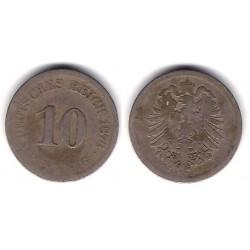 (4) Imperio Alemán. 1876(J). 10 Pfennig (RC+)