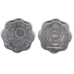 (140a) Sri Lanka. 1978. 10 Cents (MBC)