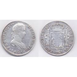 Fernando VII. 1821. 8 Reales (MBC) (Plata) Ceca de Guatemala RM