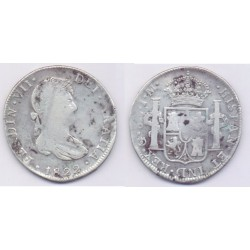 Fernando VII. 1822. 8 Reales (RC) (Plata) Ceca de Guanajuato JM