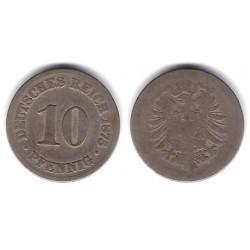 (4) Imperio Alemán. 1876. 10 Pfennig (RC+)