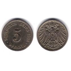 (11) Imperio Alemán. 1905(F). 5 Pfennig (MBC)