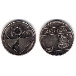 (2) Aruba. 1988. 10 Cents (MBC)