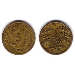 (39) Imperio Alemán (Weimar). 1925(A). 5 Pfennig (BC)