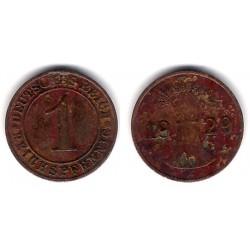 (37) Imperio Alemán (Weimar). 1 Pfennig (BC+)