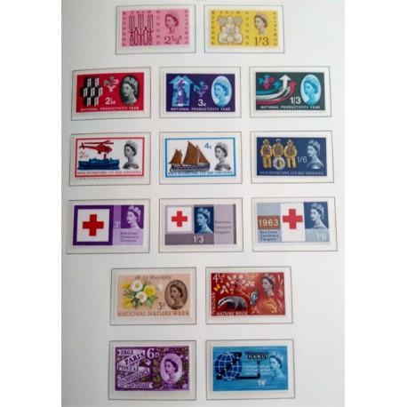 (387 a 401) Gran Bretaña. 1962-63. Serie Completa (Nuevo)
