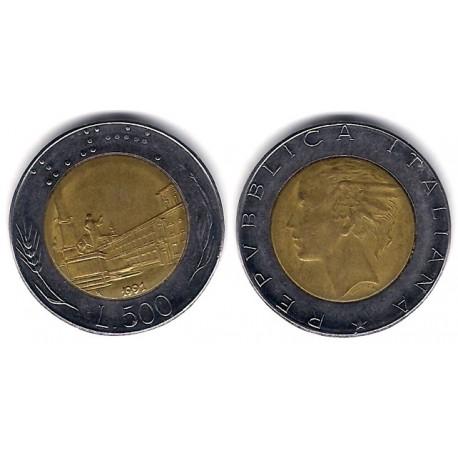 (111) Italia. 1991(R). 500 Lira (MBC)