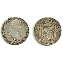 Fernando VII. 1820. 8 Reales (MBC) (Plata) Ceca de Mejico JJ