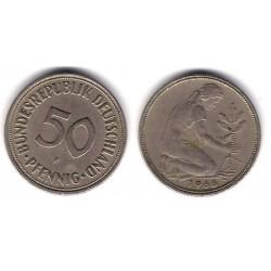 (109.1) Alemania. 1966(F). 50 Pfennig (MBC)