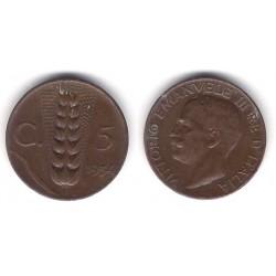 (59) Italia. 1934(R). 5 Centesimi (MBC)