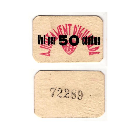 Igualada [1937] Billete de 50 Céntimos (SC)