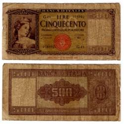 (80a) Italia. 1947. 500 Lira (RC) Roturas