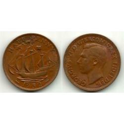 (868) Gran Bretaña. 1952. Half Penny (MBC-)