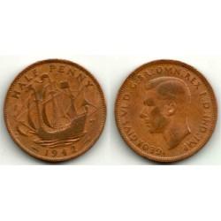 (844) Gran Bretaña. 1942. Half Penny (BC)