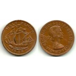 (896) Gran Bretaña. 1958. Half Penny (MBC)