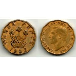 (849) Gran Bretaña. 1945. 3 Pence (BC+)