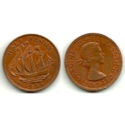 (868) Gran Bretaña. 1956. Half Penny (MBC)