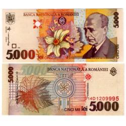 (107b) Rumania. 1998. 5000 Lei (SC)