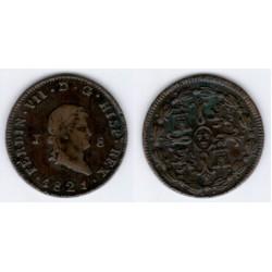 Fernando VII. 1821. 8 Maravedí (EBC) Ceca de Jubia
