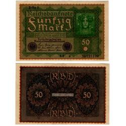 (66) Imperio Alemán. 1919. 50 Mark (EBC)